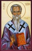 Рукописная икона Тит апостол,епископ Критский