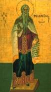 Рукописная икона Филарет Милостивый