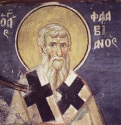 Рукописная икона Флавиан Константинопольский