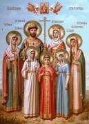 Рукописная икона Царственные Страстотерпцы