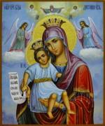 Рукописная икона Достойно Есть (Милующая) 2