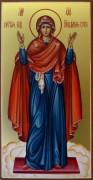 Рукописная икона Божией Матери Нерушимая Стена