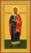 Рукописная икона Святой Александр Воин