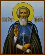 Рукописная икона Сергий Радонежский (Размер 17*21 см)