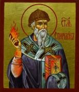 Рукописная икона Спиридон Тримифунтский