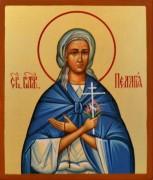Рукописная икона Пелагея Дивеевская