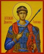 Рукописная икона Димитрий Солунский 2