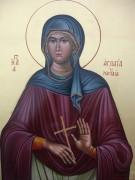 Рукописная икона Аглаида Римская праведная