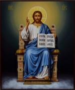 Рукописная икона Спас на престоле