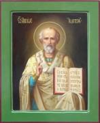 Рукописная икона Николай Чудотворец масло