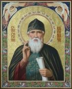 Рукописная икона Серафим Вырицкий масло