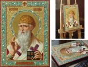 Рукописная икона Спиридон Тримифунтский масло