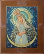 Рукописная Остробрамская икона масляная живопись
