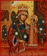Рукописная икона Неувядаемый Цвет под старину