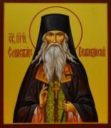 Рукописная икона Севастиан Карагандинский