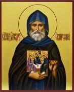 Рукописная икона Александр Свирский