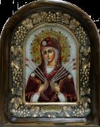 Икона из бисера Семистрельная с камнями
