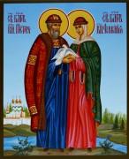 Рукописная икона Петр и Феврония 40