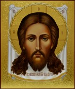 Рукописная икона Спас Нерукотворный 3