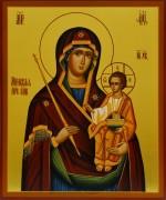 Рукописная икона Божией Матери Минская