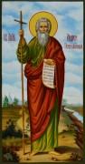 Рукописная икона Апостол Андрей Первозванный живопись 2