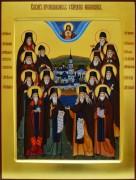 Рукописная икона Собор Оптинских старцев