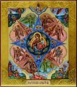 Рукописная икона Неопалимая Купина 2
