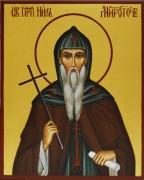Рукописная икона Нил Афонский