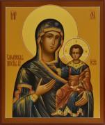 Рукописная икона Смоленская 2