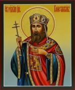 Рукописная икона Константин царь