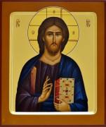 Рукописная икона Спас Пантократор (Размер 21*25 см)