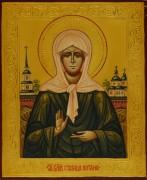 Рукописная икона Матрона под старину (Размер 13*16 см)