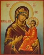 Рукописная икона Тихвинская под старину (Размер 20*25 см)
