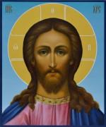 Рукописная икона Спаситель живопись 4