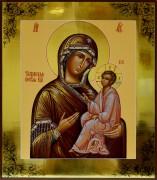 Рукописная икона Божией Матери Тихвинская 4