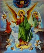 Рукописная икона Ангел Хранитель 10