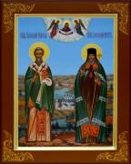 Рукописная икона Софроний Иркутский и Софроний Иерусалимский