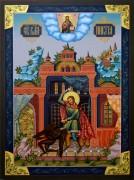 Рукописная икона Никита Бесогон 2