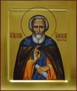 Рукописная икона Сергий Радонежский 5