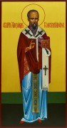 Рукописная икона Александр Константинопольский 2
