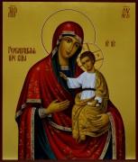 Рукописная икона Гербовецкая Божия Матерь