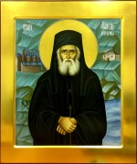 Рукописная икона Паисий Святогорец 2