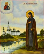 Рукописная икона Анна Кашинская масло