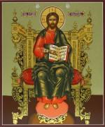 Рукописная икона Спас Вседержитель на престоле 8 (Размер 17*21 см)