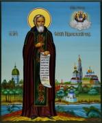 Рукописная икона Сергий Радонежский 3 (Размер 17*21 см)