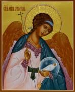 Рукописная икона Ангел Хранитель с Душой 16