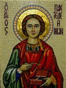 Икона из мозаики Пантелеймон Целитель