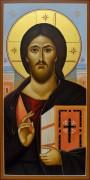 Рукописная икона Христос Пантократор Синайский