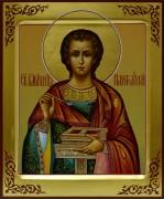 Рукописная икона Пантелеймон Целитель 4