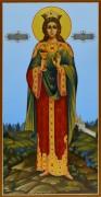 Рукописная икона Варвара Илиопольская 4 (Размер 13*25 см)